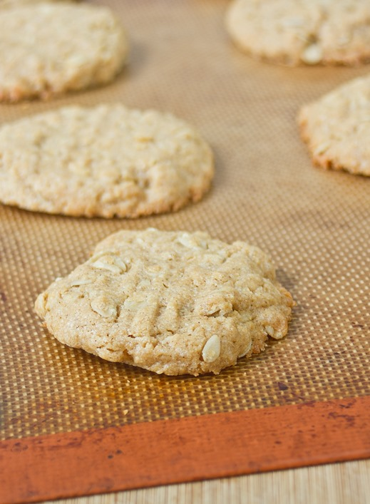 Peanut Butter Oatmeal Cookies Baked