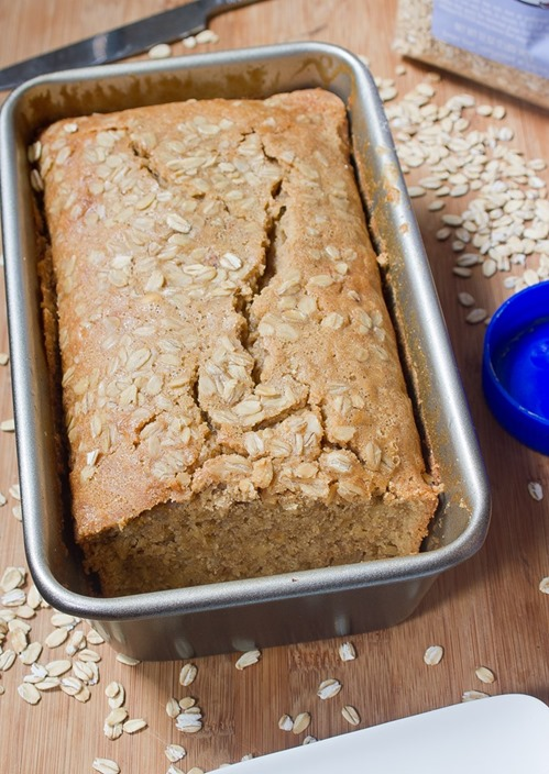 Maple Peanut Butter Quickbread Loaf