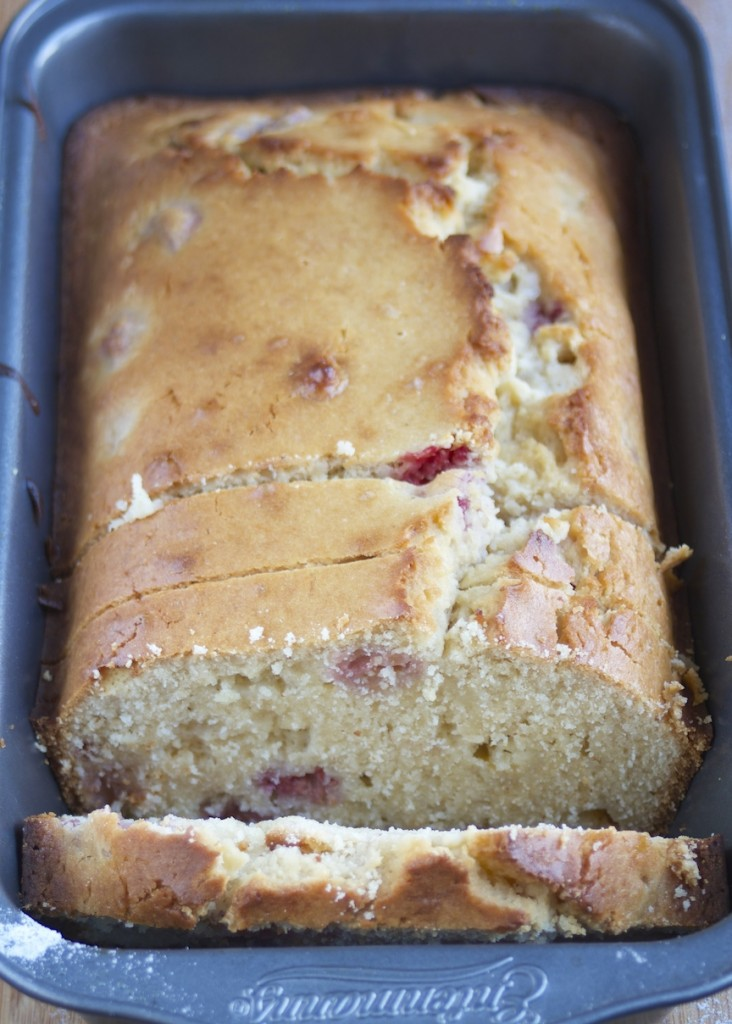 Gluten-Free White Chocolate Raspberry Loaf