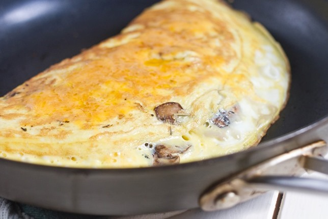 Mushroom and Herb Cheese Omelette