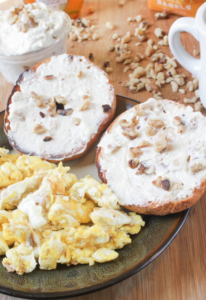 Homemade Honey Walnut Cream Cheese